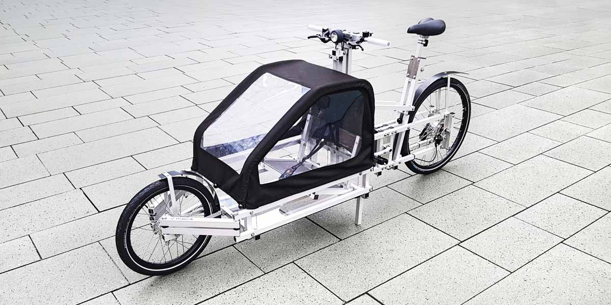XYZ CARGO BIKE with child roof + child seat
