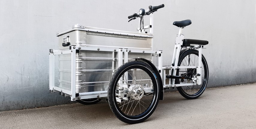 XYZ CARGO TRIKE with aluminium case from Zarges (lockable)